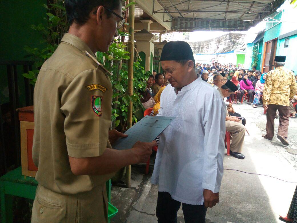penyerahan besuk kiamat kelurahan serengan 3